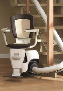 thyssen flow ii curved stairlift a1 stairlifts. Black Bedroom Furniture Sets. Home Design Ideas